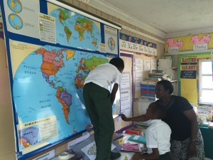 school on Long Cay