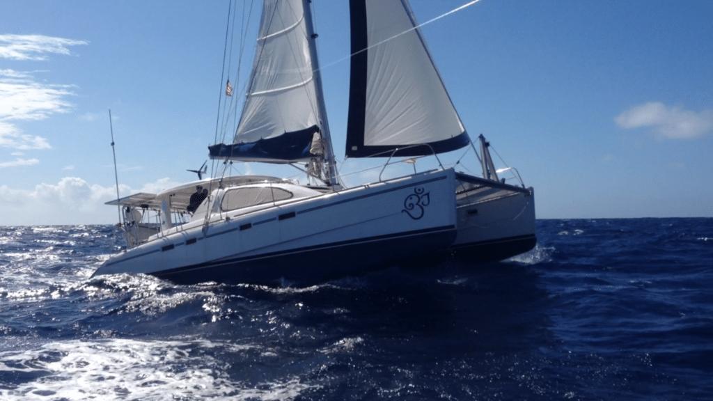 Catamaran Sailboat Sailing in Charleston