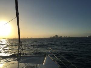 FT Lauderdale from the Ocean 15 miles out