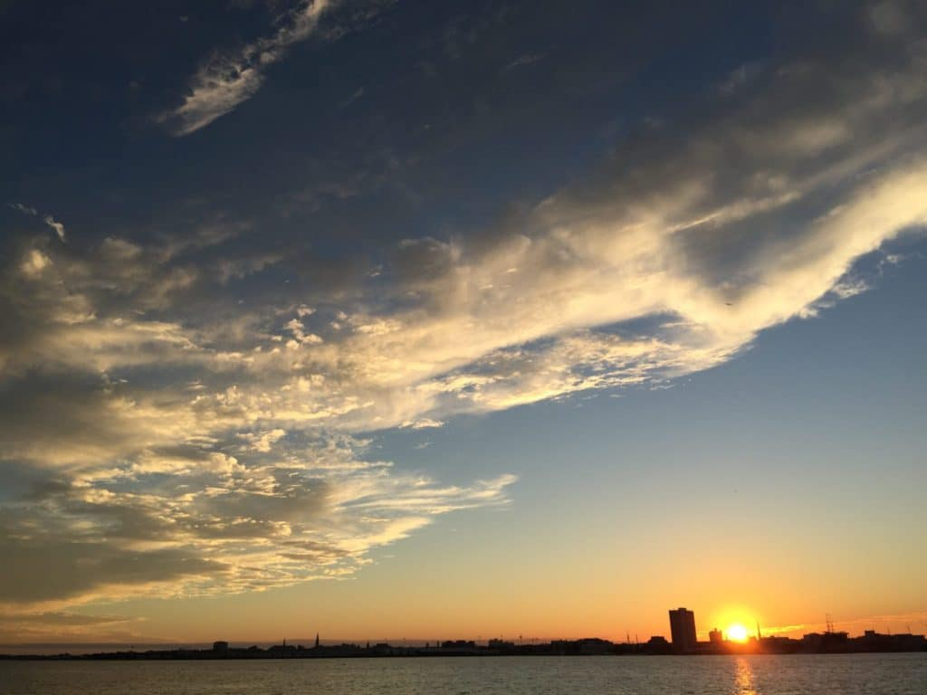 Charleston, SC Skyline at Sunset